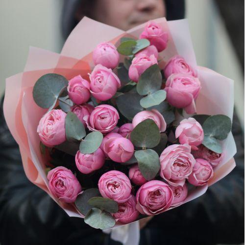 Пионовидные кустовые розы Сильва Пинк